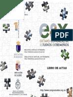 Libro de Actas (CD-ROM) del VIII Congreso de Estudios Extremeños / 23-25 de marzo de 2006