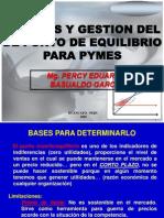 Gestion de Punto de Equilibrio Pa Pymes