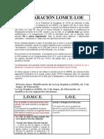 Comparación LOMCE-LOE