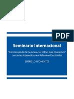 Biografias de Ponentes Seminario Internacional Lecciones Aprendidas