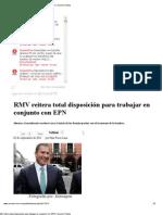 02-09-2012 Sexenio Puebla - RMV reitera total disposición para trabajar en conjunto con EPN