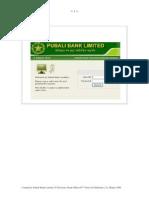 Pubali Bank Internet Banking User Manual