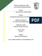 Documentos de Importacion y de Exportacion!