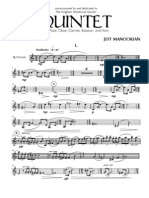 JEFF MANOOKIAN - WOODWIND QUINTET - Clarinet 1st Movement
