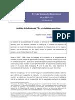 Análisis de indicadores TICs en ciudades argentinas