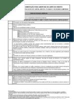 Documentação para Concessão de Crédito - Sociedade por ações de Capital Aberto, Fechado e Sociedades Limitadas
