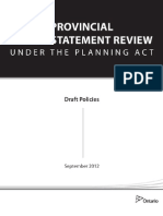 Provincial Policy Statement Review September 2012