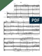 JEFF MANOOKIAN - Capriccios for Flute Quartet  - score Third Movement