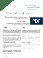 Representación de datos meteorológicos en la operación de ferrocarriles. Detección de caídas de rayos