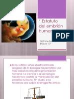 Estatuto del embrión humano''
