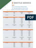 Shuttle Schedule 12x18