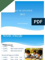 Plan de Estudios. 2012
