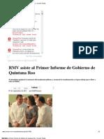 07-09-2012 Sexenio Puebla - RMV Asiste Al Primer Informe de Gobierno de Quintana Roo