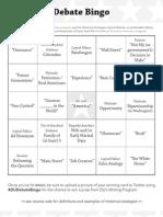 DebateFest Bingo 11
