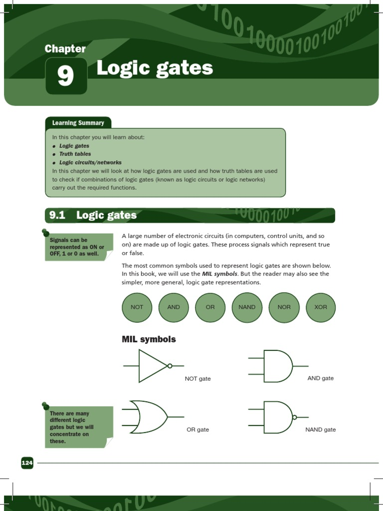 Igcse Computer Studies Rev Guide Sample Logic Gate Electronic Circuit Into An Or Circuits