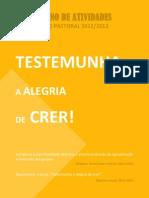 Plano de Atividades JMV Portugal 2012-2013