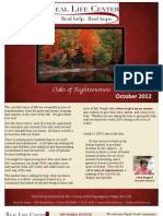 October Newsletter 2012