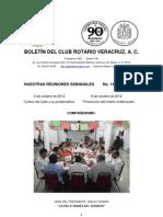 Boletín Rotario del 2 de octubre de 2012