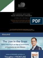 Mauldin ValueInvestingCongress 100112