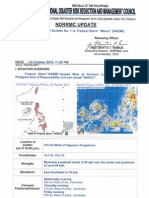 NDRRMC SWB No.1 Re Tropical Storm Marce