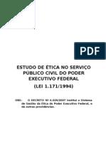 ESTUDO DE ÉTICA (LEI 1171-94)