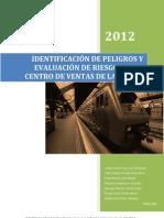 IDENTIFICACIÓN DE PELIGROS Y EVALUACIÓN DE RIESGOS EN EL CENTRO DE VENTAS DE LA UNALM