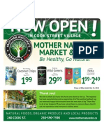 Mother Nature's Market Flyer-October 2012