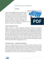Development of Management Thought Unit I