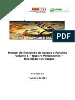 Vol.1 Quadro Permanente Descricao de Cargos e Funcoes