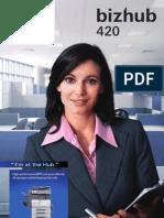 Konica Minolta Bizhub 420 Brochure