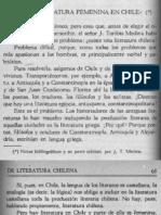 El Problema de La Literatura Chilena
