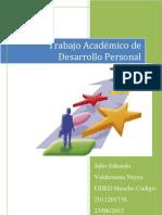 Ta-Desarrollo Personal Alumno Julio Valderrama Uded Huacho