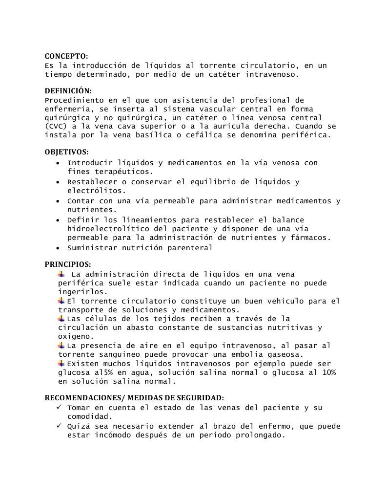 Tecnica De Instalacion De Venoclisis Pdf Download