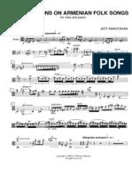 JEFF MANOOKIAN - Armenian Improvisations for Viola and Piano -- Solo Viola