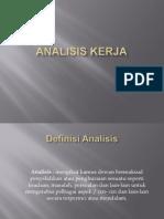 Analisis Kerja Presentation