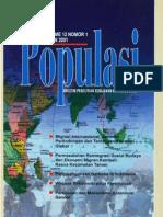 Populasi Volume 12, Nomor 1, Tahun 2001