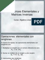 Matrices Elementales y Matrices Inversas