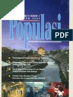 Populasi Volume 15, Nomor 2, Tahun 2004