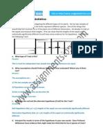 Solution for Bio-Statistics