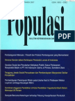 Populasi Volume 18, Nomor 1, Tahun 2007
