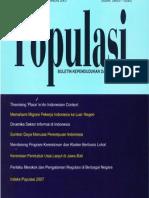Populasi Volume 18, Nomor 2, Tahun 2007