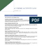 North Sac Crime Activity Log (Sept 25, 2012 – Oct 1, 2012)