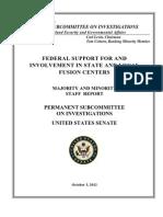 HSGAC-Fusion Centers US State Senate Report
