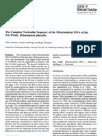 Secuencia de Nucleotidos de Balenoptera
