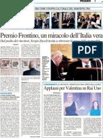 Premio Frontino, un miracolo dell'Italia vera - Il Resto del Carlino del 1 ottobre 2012