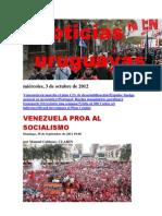 Noticias Uruguayas miércoles 3 de octubre del 2012