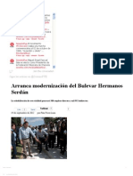 19-09-2012 Sexenio Puebla - Arranca modernización del Bulevar Hermanos Serdán