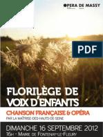 Programme Concert Fontenay-le-Fleury