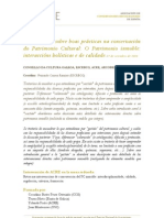 2012 III Xornadas sobre boas prácticas na conservación do Patrimonio Cultural