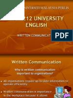 2 Written Communication